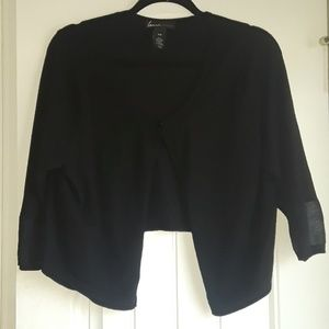 Lane Bryant sheer sleeve cropped sweater